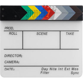 White Director's Clapboard Clapboards also known as a Clapperboard